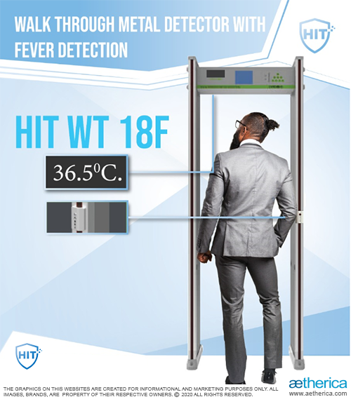 WTMD Metal Detector Gate with Fever Detection