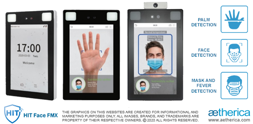 Touchless Biometric Access Control Terminal with MASK and FEVER DETECTION